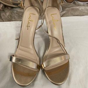 LuLu's Gold Strappy Heels